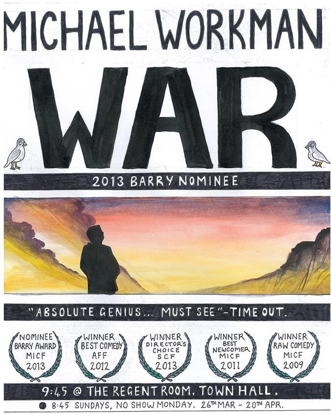Michael Workman's War Tour Poster
