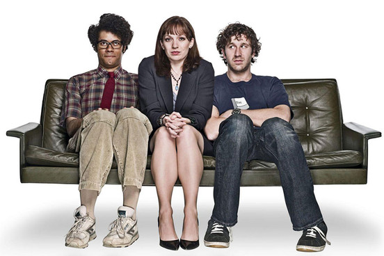 Moss, Jen and Roy from 'The I.T. Crowd'