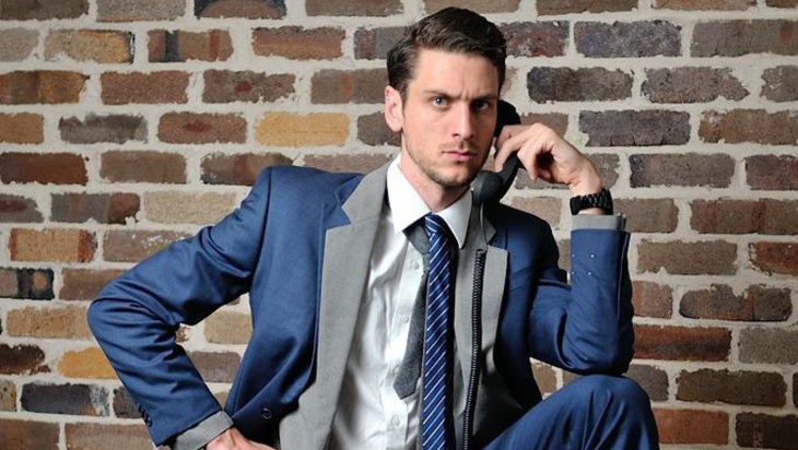 Steen Raskopoulos in 'I'm Wearing Two Suits Because I Mean Business'