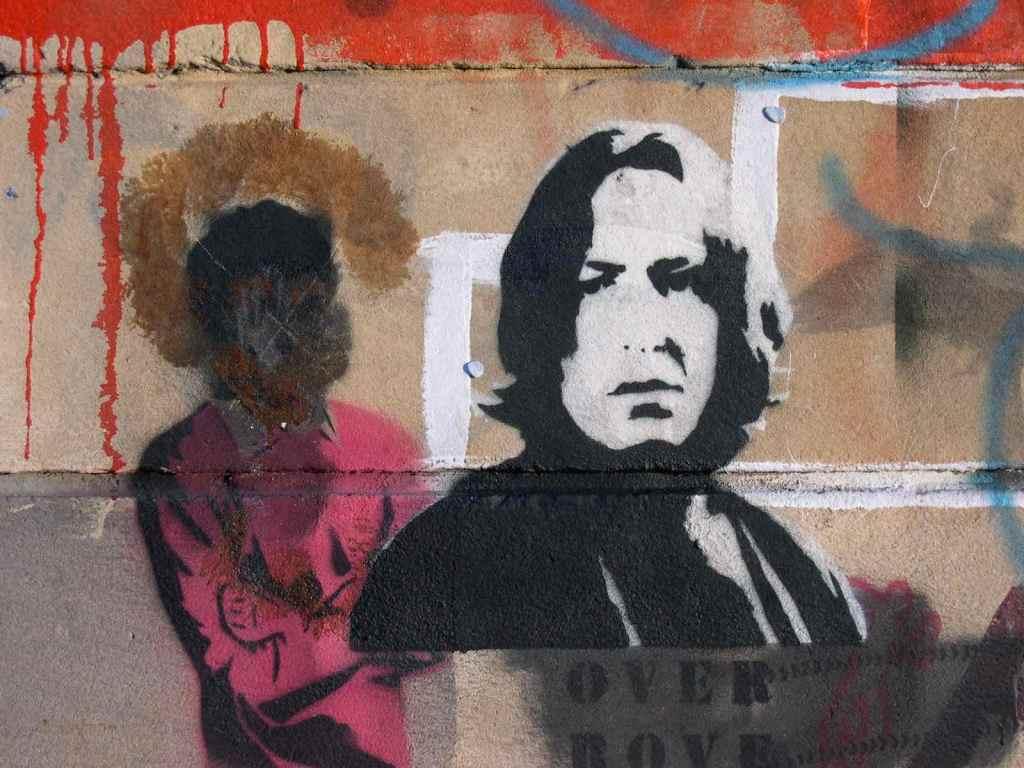 Seth and Snape street art,  Newtown NSW circa 2006